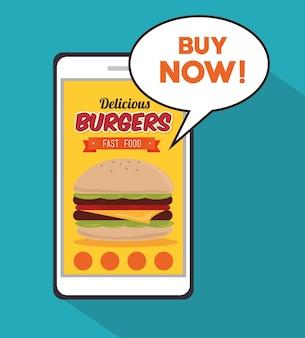 Hamburger digitales design.