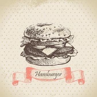 Hamburger. handgezeichnete abbildung