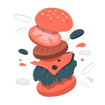 Hamburger konzeptillustration