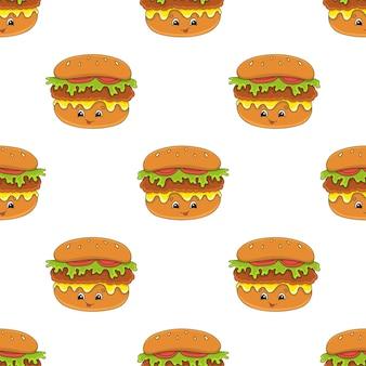 Hamburger nahtloses muster.