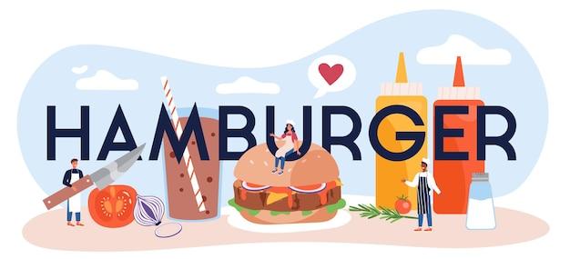 Hamburger typografischer header