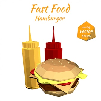 Hamburger und die saucen