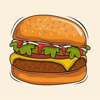 Hamburger vektorillustrationen burger lecker