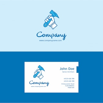 Hammer logo und visitenkarte
