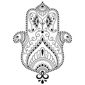 Hamsa hand gezeichnetes symbol.