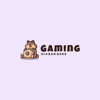 Hamster logo maskottchen