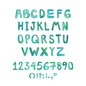Hand bemalt aquarell typographie