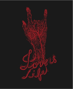 Hand blutgefäß unterzeichnung liebe