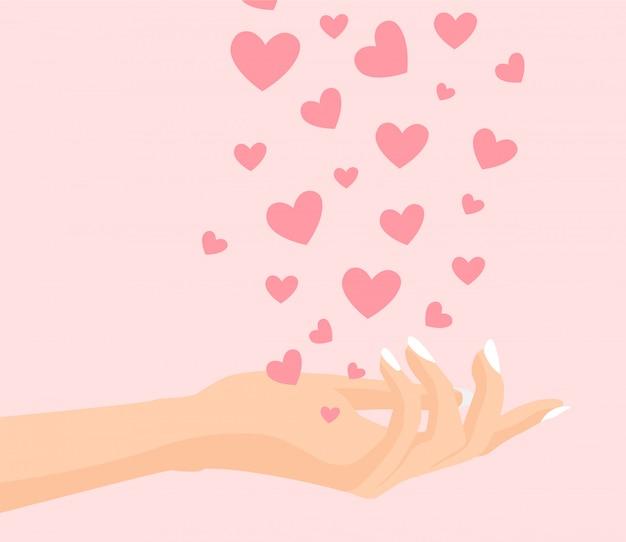 Hand der liebe