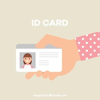 Hand, die ausweiskarte hält