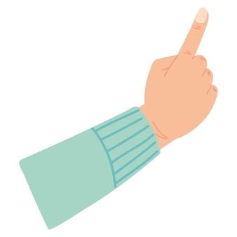 Hand erhobener zeigefinger nach oben