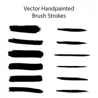 Hand gemalt pinsel streicht sammlung