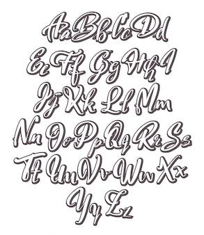Hand geschrieben alphabet design