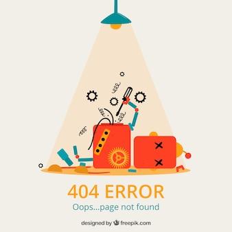 Hand gezeichnet 404 fehler