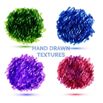 Hand gezeichnet bälle von grunge-textur