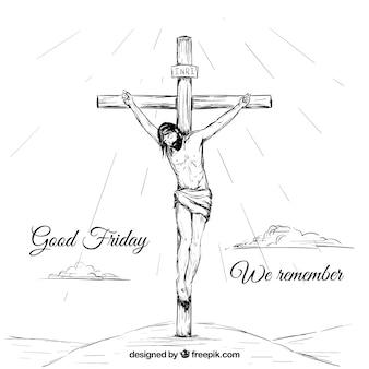 Hand gezeichnet christus hintergrund