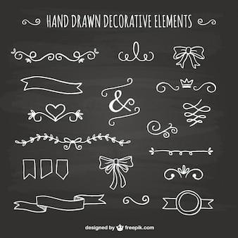 Hand gezeichnet dekorative elemente