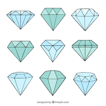 Hand gezeichnet diamanten