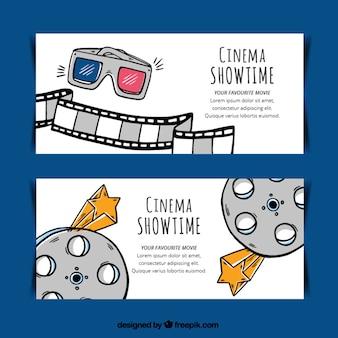 Hand gezeichnet film-objekte banner