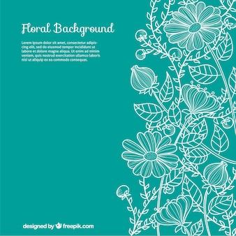 Hand gezeichnet floral background