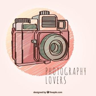 Hand gezeichnet fotografie kamera