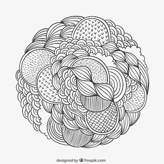Hand gezeichnet gemusterten kreis