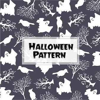 Hand gezeichnet halloween muster hintergrund