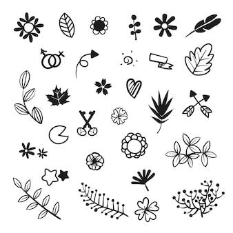 Hand gezeichnet ikonen-sammlung
