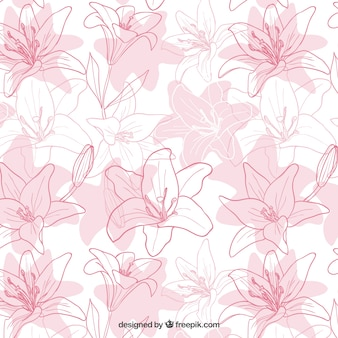 Hand gezeichnet iris blumen-muster