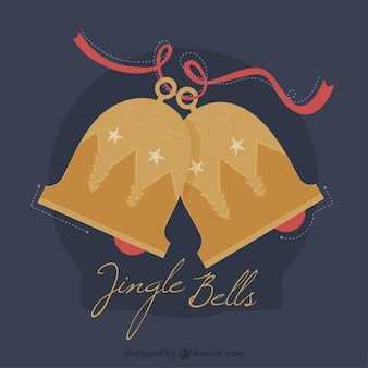 Hand gezeichnet jingle bells