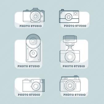 Hand gezeichnet kameras abzeichen