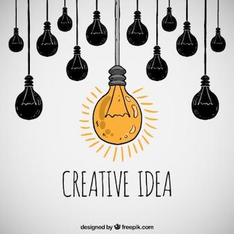 Hand gezeichnet kreative idee konzept