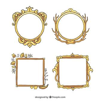Hand gezeichnet ornamental bilderrahmen