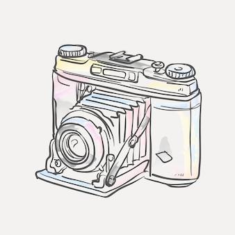 Hand gezeichnet polaroidkamera