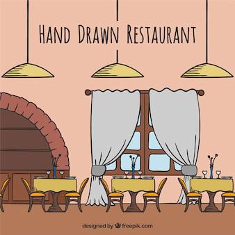 Hand gezeichnet restaurant
