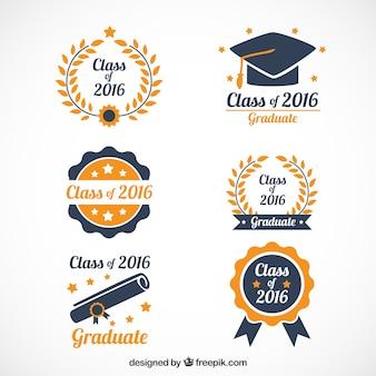 Hand gezeichnet schöne Graduierung Logos