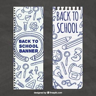Hand gezeichnet schule banner