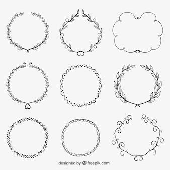 Hand gezeichnet skizzenhaften frames