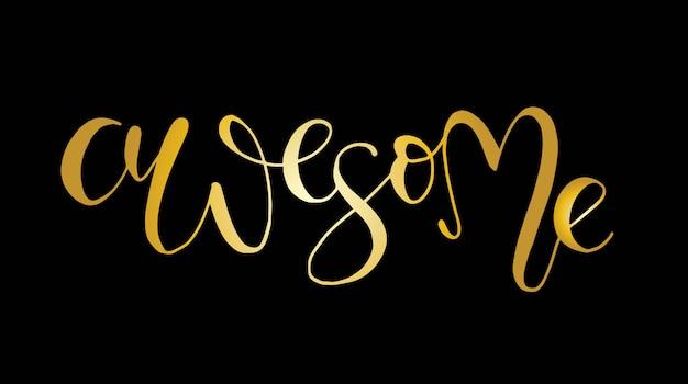 Hand gezeichnet, slogan ehrfürchtig beschriftend