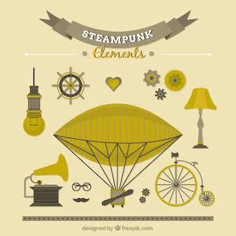 Hand gezeichnet steampunk-sachen