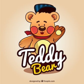 Hand gezeichnet teddybär