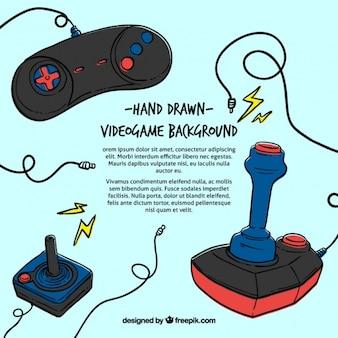 Hand gezeichnet videospiel bakcground