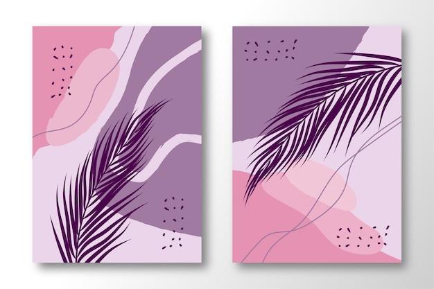 Hand gezeichnet von abstrakten trendigen künstlerischen vorlagen.