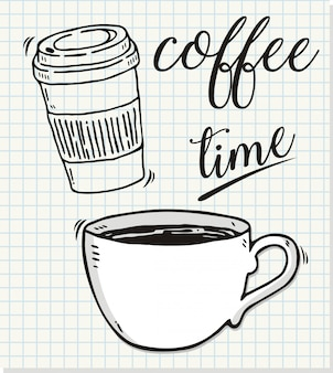 Hand gezeichnet von der kaffeezeit