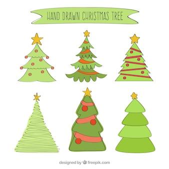 Hand gezeichnet weihnachtsbaum