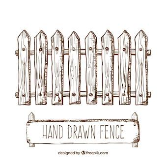 Hand gezeichnet zaun