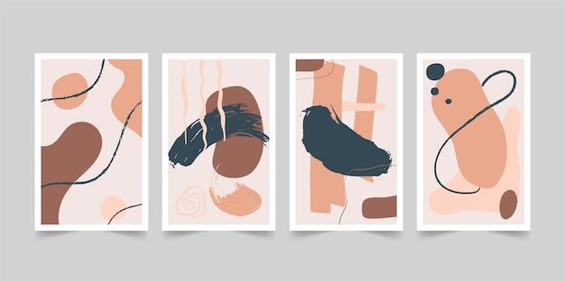 Hand gezeichnete abstrakte formen decken sammlung ab