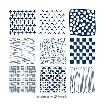 Hand gezeichnete abstrakte formmustersammlung