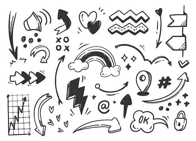 Hand gezeichnete abstrakte kritzeln gekritzel