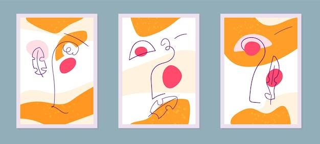 Hand gezeichnete abstrakte kunstabdeckungspackung